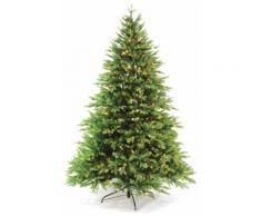 Albero Di Natale Luminoso 4990 Rami 650 Led Bianco Caldo Ø147xh240cm Manieri Abetone Grenn