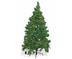 Albero Di Natale Luminoso 1280 Rami 400 Led Bianco Caldo Ø125xh225 Cm Soriani Dublino Verde Chiaro