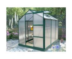 Serra da giardino in policarbonato da 3,4m² GIARDINA con base