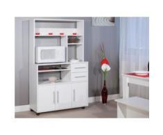 Mobiletto da cucina su ruote ASTRID - Colore bianco