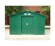 Casetta da giardino in acciaio zincato verde MAXITA II - 9,3 m²