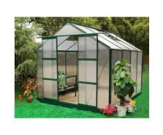 Serra da giardino in policarbonato da 7,5 m² GREENEA II - Verde