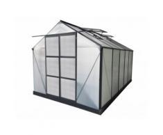 Serra da giardino in policarbonato da 9 m² COROLLE II con base - antracite