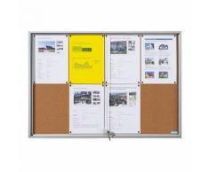 office akktiv Bacheca con ante scorrevoli, largh. x alt. x prof. esterno 2006 x 947 x 50 mm