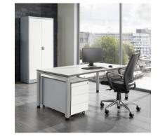 mauser Ufficio completo ARCOS, scrivania, armadio con ante a battente, cassettiera con rotelle con 3 cassetti