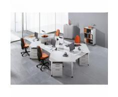 CONTACT - Scaffale per ufficio, 2 ripiani, con rotelle