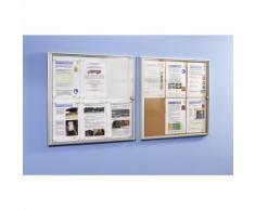 office akktiv Bacheca info per interni, parete posteriore in metallo