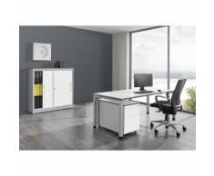 mauser Ufficio completo ARCOS, scrivania, armadio con ante scorrevoli, cassettiera con rotelle con cassetto per cartelle sospese