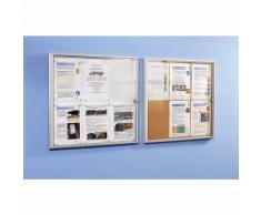 office akktiv Bacheca info per interni, parete posteriore in sughero