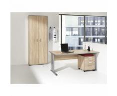 JACK - Ufficio completo, scrivania, cassettiera con rotelle, armadio