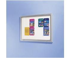 office akktiv Bacheca, cornice in alluminio, per interni ed esterni, capacità: 21 fogli UNI A4, alt. x largh. x prof. 1010 x 1560 x 50 mm