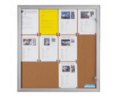 office akktiv Bacheca con anta a battente, largh. x alt. x prof. esterno 742 x 697 x 33 mm
