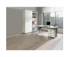 JACK - Ufficio completo, scrivania, cassettiera con rotelle, scaffale