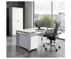 mauser Ufficio completo ARCOS, scrivania, armadio con ante a battente, cassettiera con rotelle con supporto per cartelle sospese