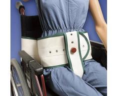 Biomatrix Cintura di contenzione toracica ed inguinale carrozzina con supporto lombare e chiusura magnetica