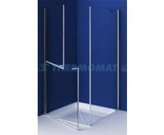 THERMOMAT box doccia angolare (due ante,una fissa e una ad apertura sdoppiabile)