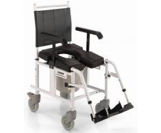 KSP Carrozzina da doccia con telaio in alluminio verniciato, sedile in poliuretano autopellante espanso e con 4 ruote Ø 5''