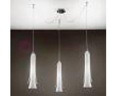 Lam Export Tubular Bells Lampada A Sospensione 3 Luci Regolabili In Vetro Design Moderno