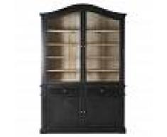 Maisons du Monde Piattaia a 4 ante e 2 cassetti in legno massello di mango nero Versailles