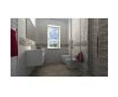 Materialcasa Bagno completo Resco - Composto da piastrelle, sanitari, mobile, specchio, rubinetteria, box, piatto doccia e termoarredo.