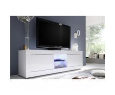Mobile TV design laccato bianco 180 cm LATTE