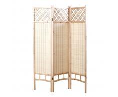 Paravento giapponese in pino e bambù NEW NIHA