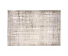 Tappeto grigio chiaro acrilico e cotone 155x230 USED