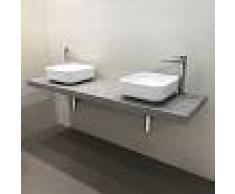 Maison Plus SUPER PROMOZIONE - Top cm 170x50 con doppio lavabo d'appoggio
