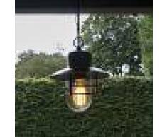 QAZQA Lampada a sospensione 'Shell' rustica bronzo/acciaio inossidabile - adatta per LED / esterna, bagno