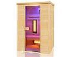 Sauna ad infrarossi Wave 2 posti Quarzo e Magnesio 130 x 100