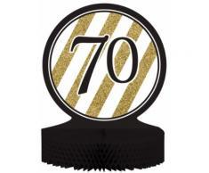 Centro tavola 70 anni nero-oro Taglia Unica