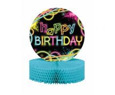 Centro tavola Happy Birthday Fluo Taglia Unica