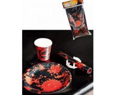 Kit decorazione horror da tavola per 6 persone Taglia Unica