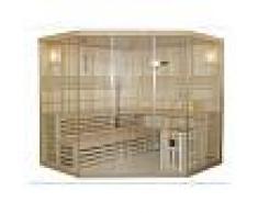 Vogue Sauna Sauna tradizionale finlandese angolare 4/5 posti vetrata Gamma prestige IMATRA