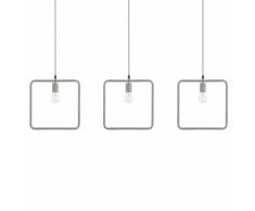 Set di 3 lampade a sospensione grigie LERMA