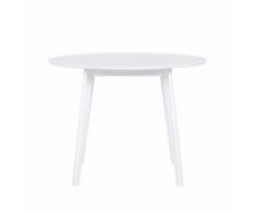 Tavolo da pranzo rotondo ø 100 cm bianco ROXBY