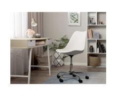 Sedia da scrivania senza braccioli DAKOTA II bianca