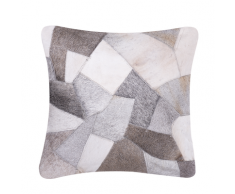 Cuscino decorativo in pelle 45 x 45 cm grigio NEELOOR