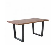 Tavolo da pranzo rettangolare in color marrone AUSTIN