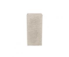 Vaso rettangolare per interno ed esterno beige 35x35x70cm GAZA