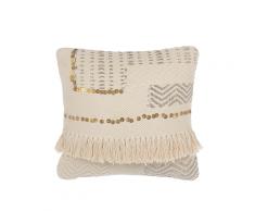 Cuscino decorativo 45 x 45 cm beige VAYALI