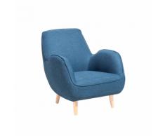 Poltrona moderna in tessuto azzurro KOUKI