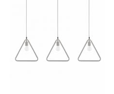 Set di 3 lampade a sospensione in metallo grigio JURUENA