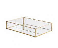 Svuota tasche decorativo in vetro ed oro GRENOBLE