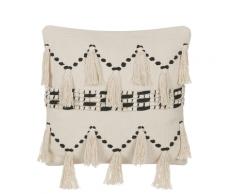 Cuscino decorativo 45 x 45 cm beige/nero THONDI