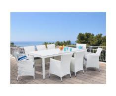 Set di 2 sedie da giardino in rattan bianco ITALY