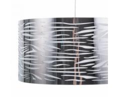 Lampadario in metallo color argento TORNO
