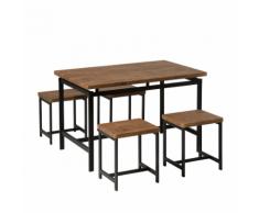 Set tavolo 120 cm e 4 hoker - ARLINGTON