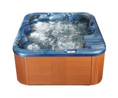 Vasca idromassaggio da esterno riscaldata blu SANREMO