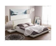 Letto color bianco 160 x 200 cm ZEN